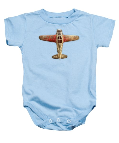 Airplane Scrapper On Color Paper Baby Onesie