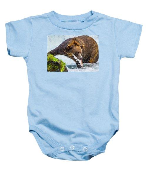 Alaska Brown Bear Baby Onesie