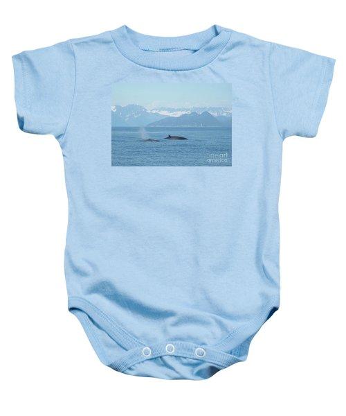 Alaska Finback Whales Baby Onesie