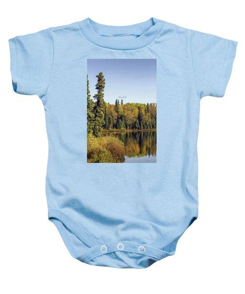 Alaskan Lake In Autumn Baby Onesie