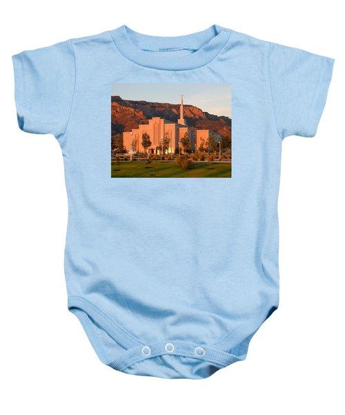 Albuquerque Lds Temple At Sunset 1 Baby Onesie