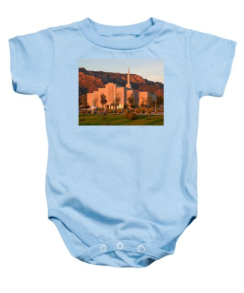 Albuquerque Lds Temple At Sunset 1 Baby Onesie