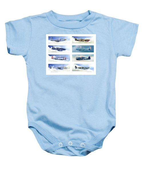 Allied Fighters Of The Second World War Baby Onesie