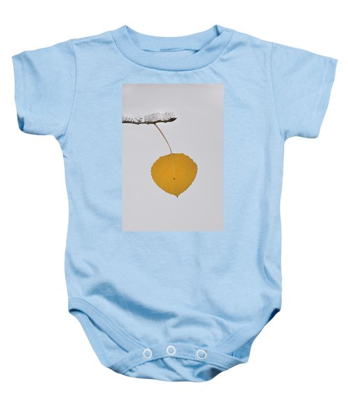Alone In The Snow Baby Onesie