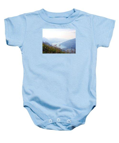Alpine Flora On Top Of Schynige Platte Baby Onesie
