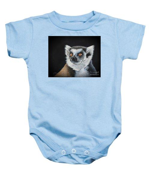 Amber Eyes......lemur Baby Onesie