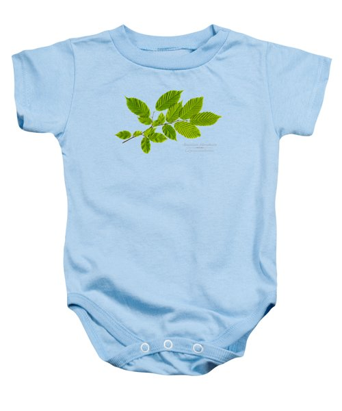 Baby Onesie featuring the photograph American Hornbeam by Christina Rollo