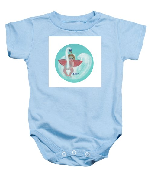 Amorino With Swan Baby Onesie