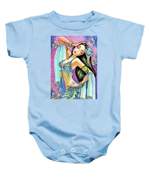 Baby Onesie featuring the painting Amrita by Eva Campbell