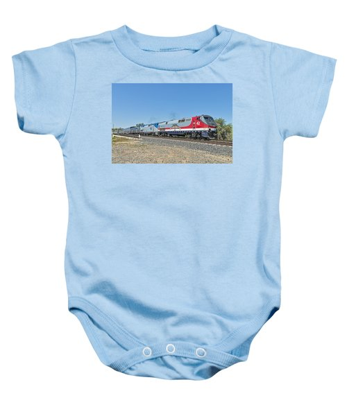 Baby Onesie featuring the photograph Amtrak 42  Veteran's Special by Jim Thompson