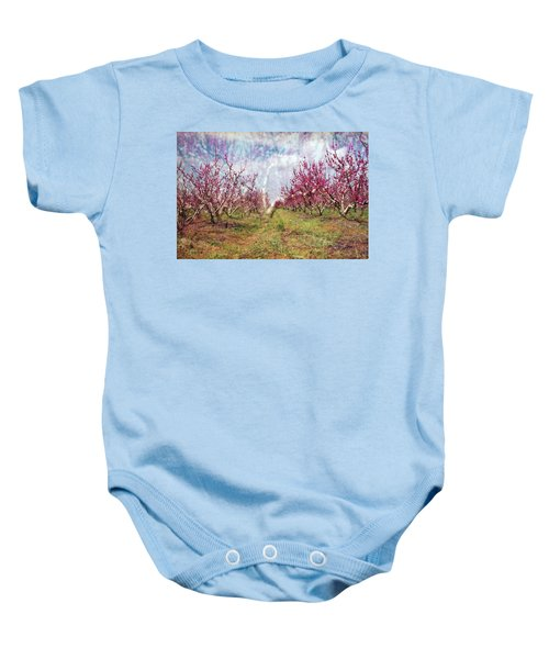 An Orchard In Blossom In The Golan Heights Baby Onesie