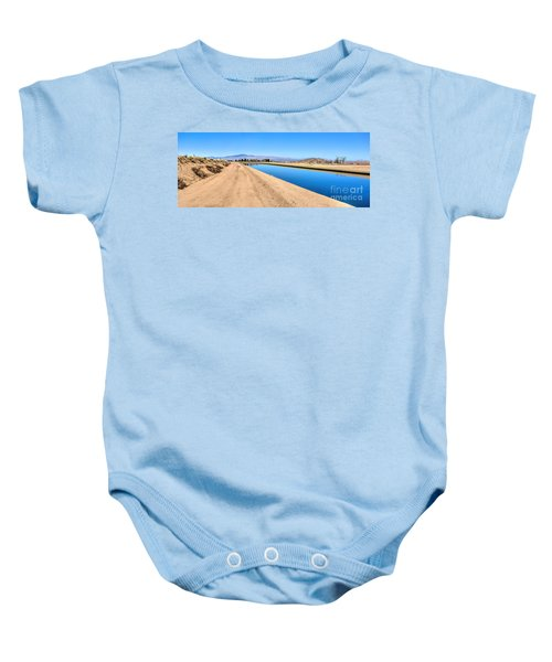 Aqueduct And The Tehachapi Mountains Baby Onesie