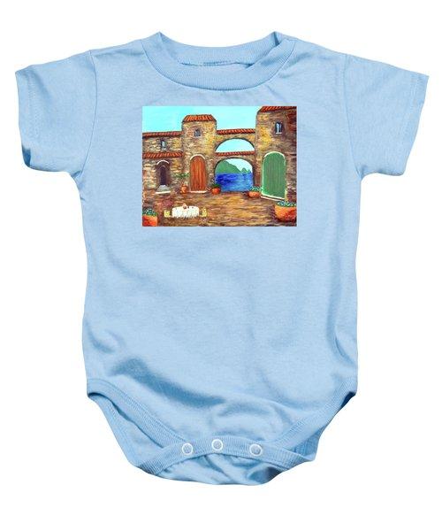 Arches Of Amalfi  Baby Onesie