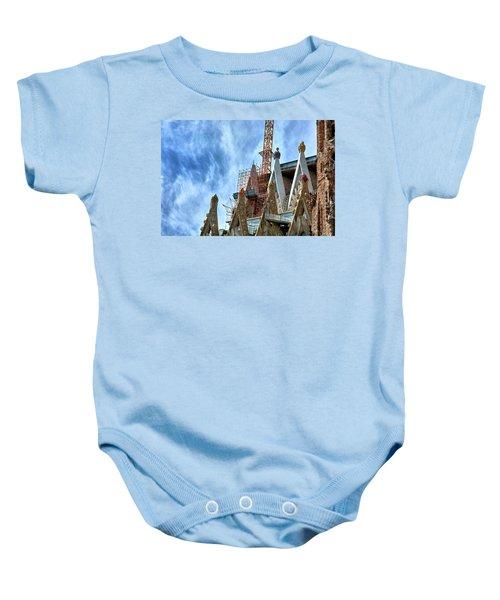 Architectural Details Of The Sagrada Familia Baby Onesie