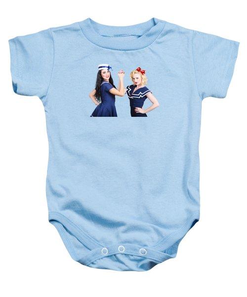 Arm Wrestling Baby Onesie