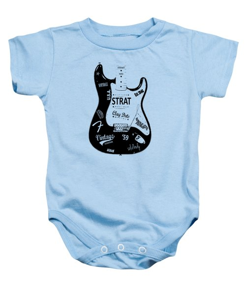 Fender Stratocaster 59 Baby Onesie by Mark Rogan