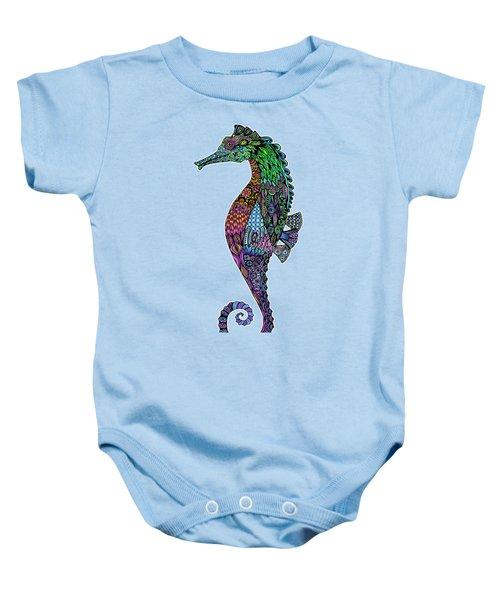 Electric Gentleman Seahorse Baby Onesie by Tammy Wetzel