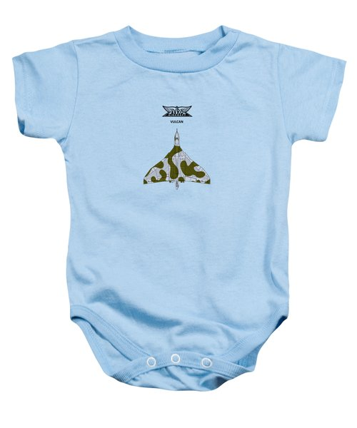 The Vulcan - White Baby Onesie by Mark Rogan