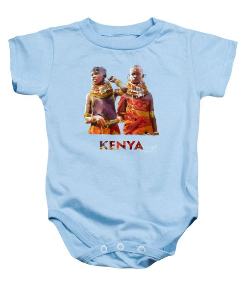 Young Turkana Girls Baby Onesie