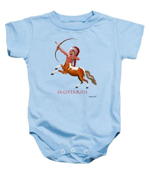 Native American Sagittarius Baby Onesie by Glenn Holbrook