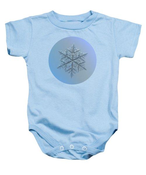 Snowflake Photo - Majestic Crystal Baby Onesie