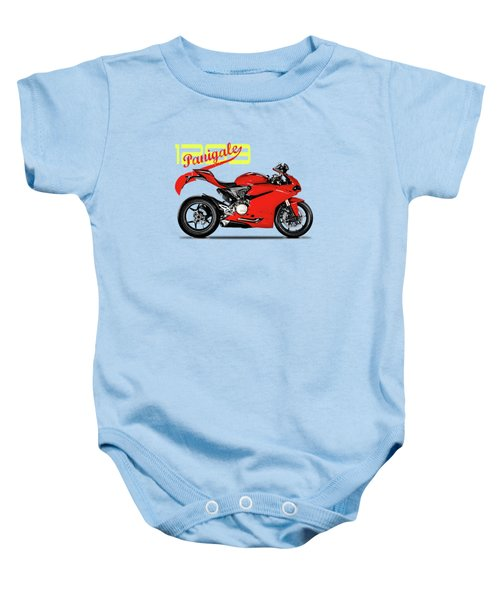 Ducati Panigale 1299 Baby Onesie by Mark Rogan
