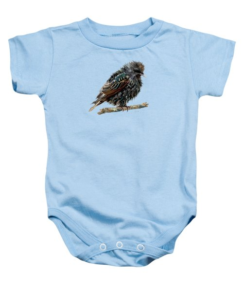 Wet Starling Baby Onesie by Bamalam Photography