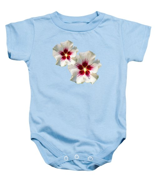 Baby Onesie featuring the mixed media Hibiscus Flower Pattern by Christina Rollo