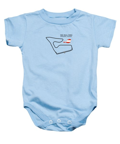 The Red Bull Ring Baby Onesie by Mark Rogan