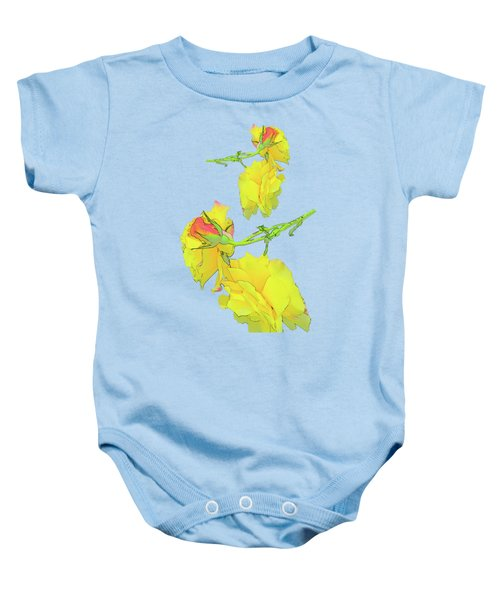 The Yellow Rose Of Not Texas Baby Onesie