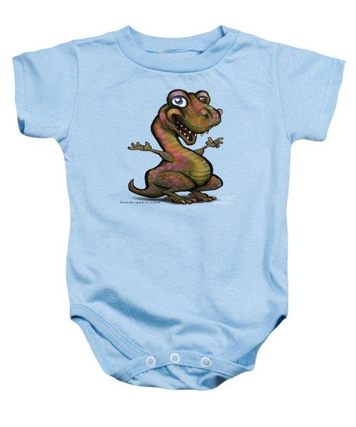 Baby T-rex Blue Baby Onesie