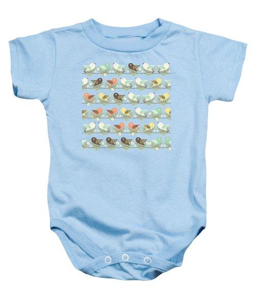 Assorted Birds Pattern Baby Onesie