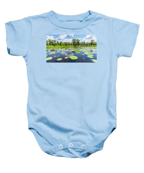 Atchaflaya Basin Reflection Pool Baby Onesie