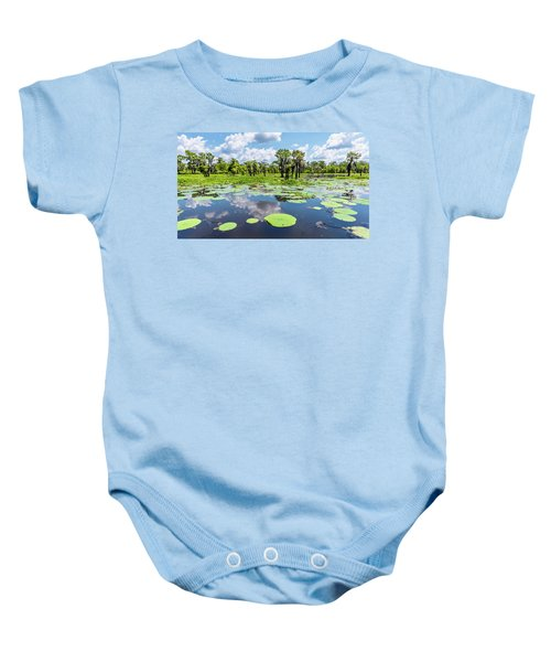 Atchaflaya Basin Reflection Pool Baby Onesie