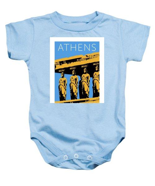 Athens Erechtheum Blue Baby Onesie
