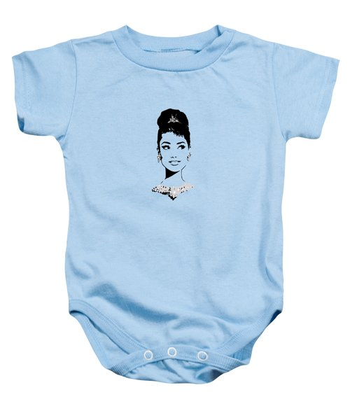 Audrey In Tiffany Blue Baby Onesie