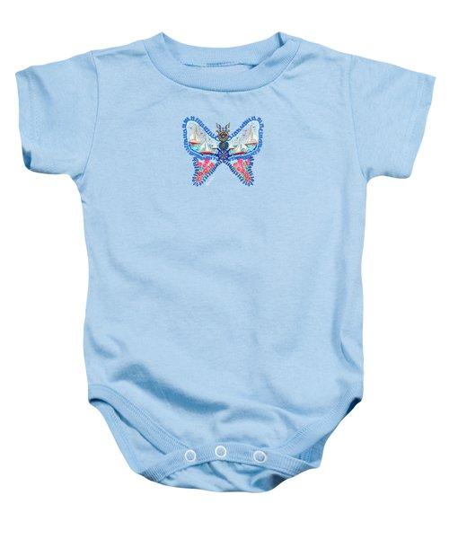 August Butterfly Baby Onesie