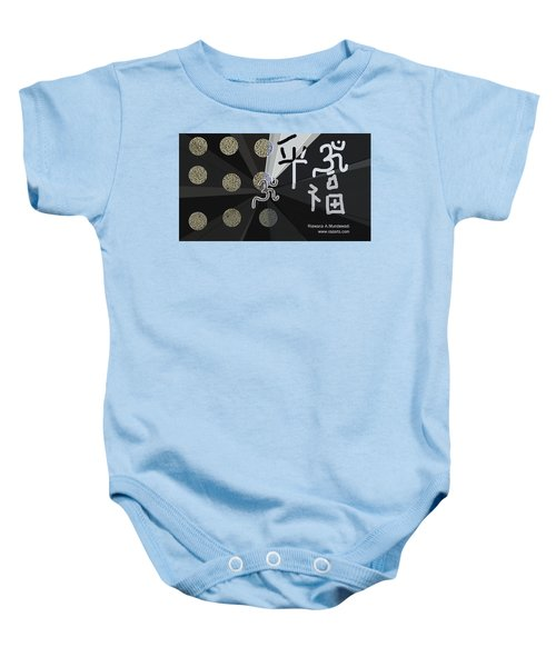 60b96ca95 Aum 68 Black And White Goodluck Baby Onesie