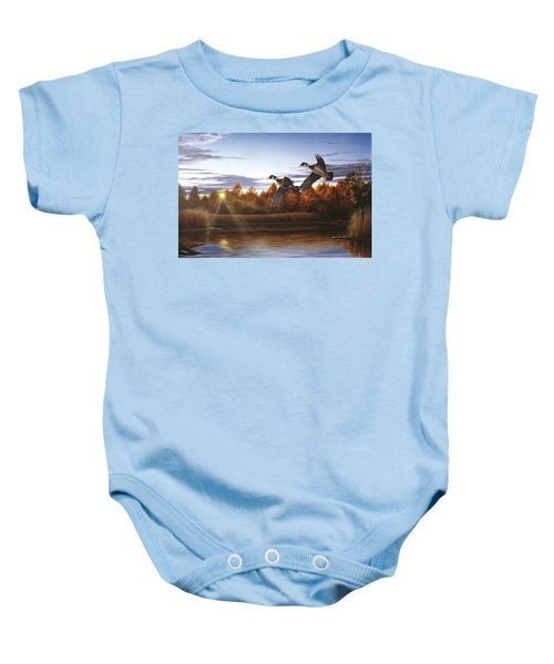Autumn Home - Wood Ducks Baby Onesie