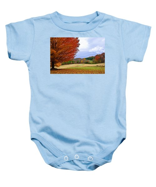 Autumn On The Golf Course Baby Onesie