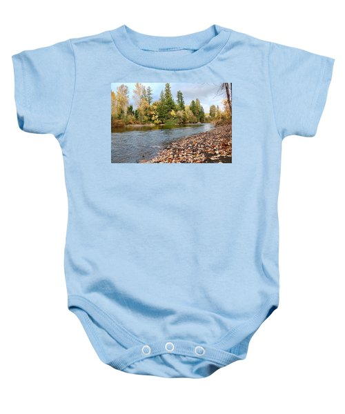 Autumn On The Molalla Baby Onesie