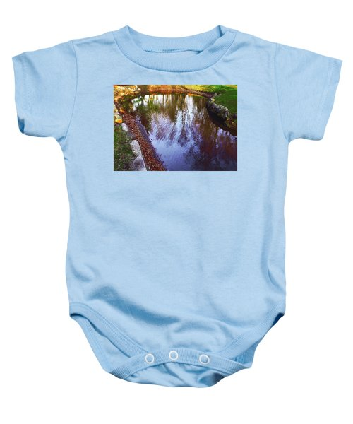 Autumn Reflection Pond Baby Onesie