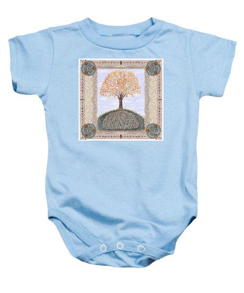 Autumn Tree Of Life Baby Onesie