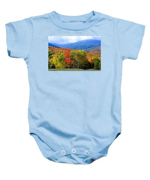 Autumn White Mountains Nh Baby Onesie