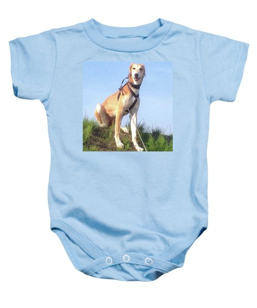 Ava-grace, Princess Of Arabia  #saluki Baby Onesie