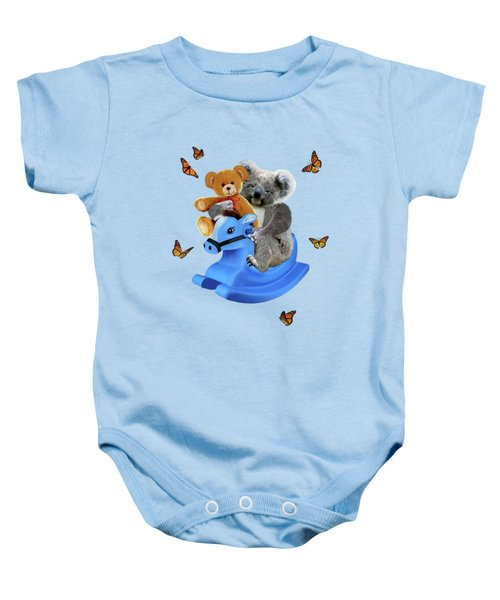 Baby Koala Bear Rocks Baby Onesie