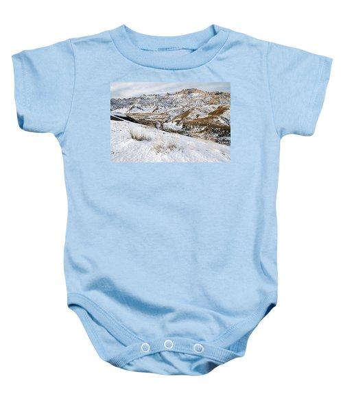 Badlands In Snow Baby Onesie