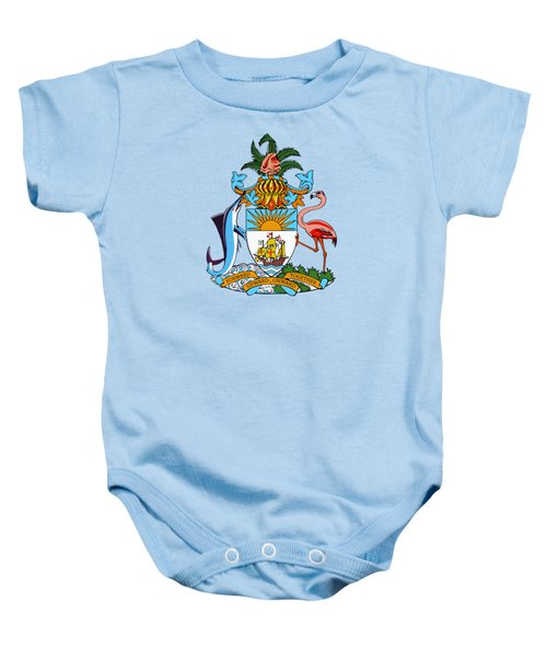 Bahamas Coat Of Arms Baby Onesie by Movie Poster Prints
