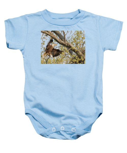 Bald Eagle Catch Of The Day  Baby Onesie