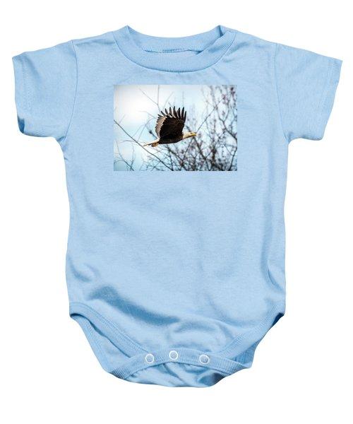 Bald Eagle Flight Baby Onesie